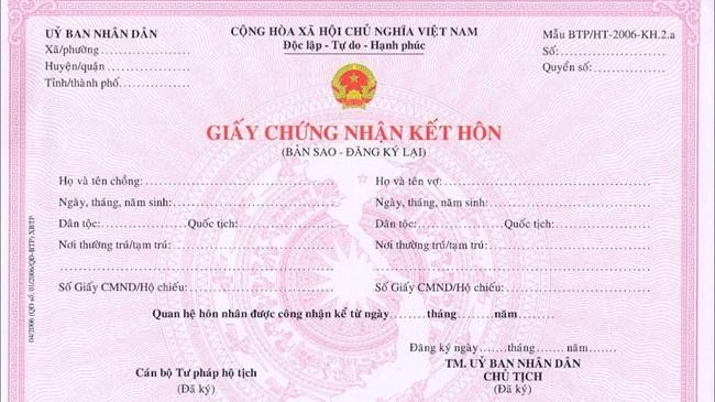 Làm đăng ký kết hôn giả